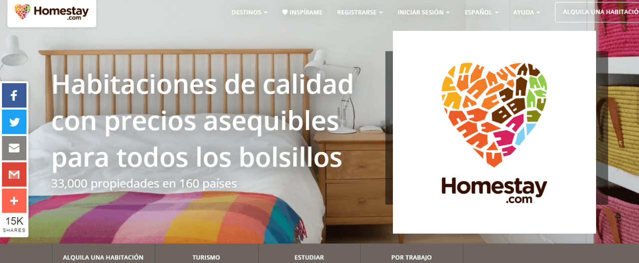 homestay web similar a airbnb