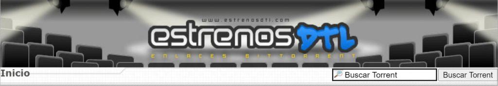cabecera de la web de descargas estrenosDTL
