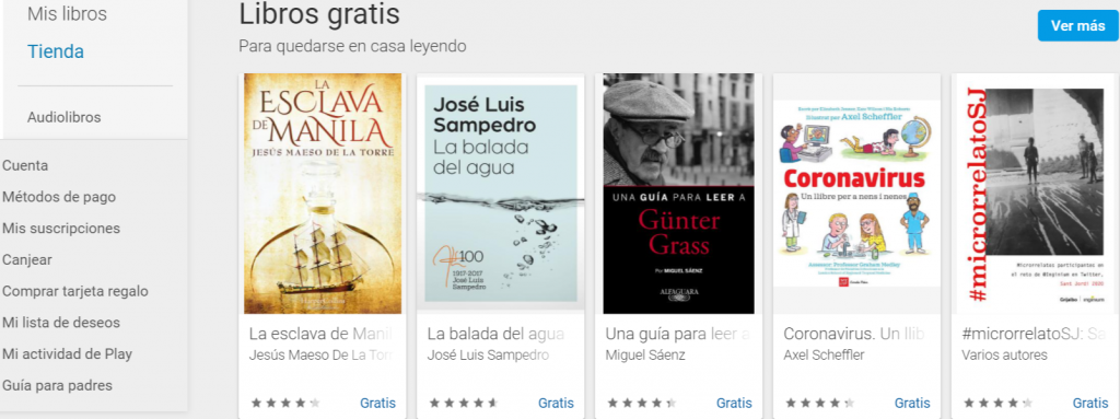 libros gratis en google play books
