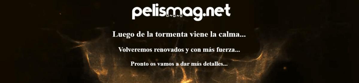 mensaje de la web de descargas de películas pelismag.net