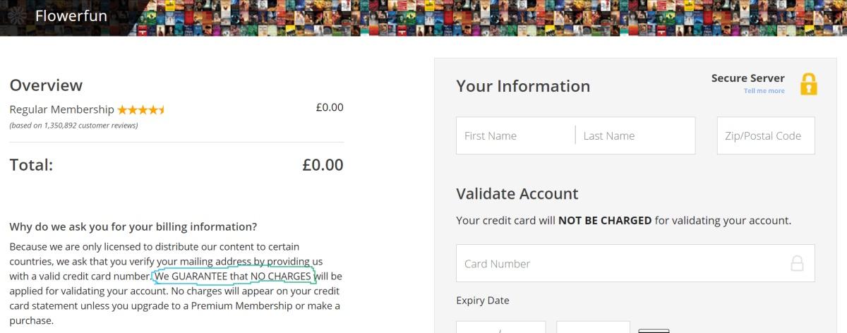 imagen de la plataforma de pago a la que redirige la web de lectulandia