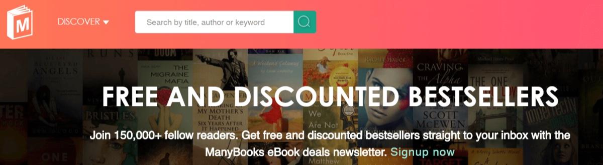 manybooks, página similar a lectulandia pero para descargar libros en inglés