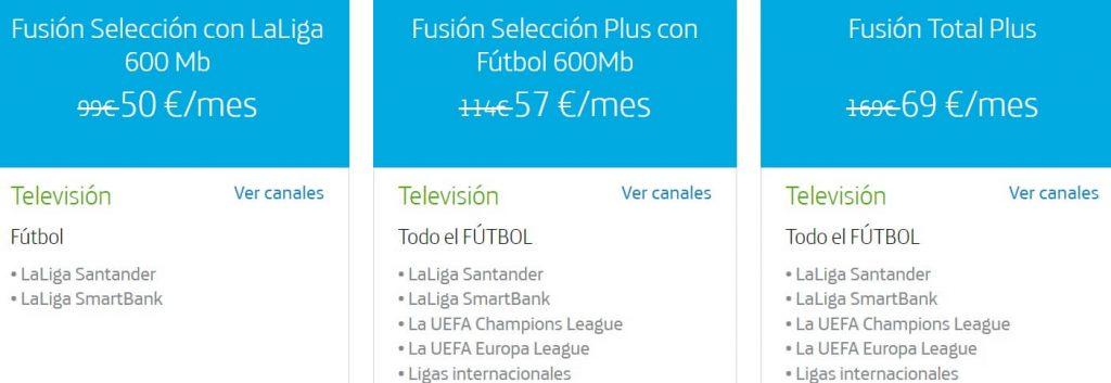 Movistar Fútbol Tarifas para ver LaLiga Santander, SmartBank, Champions y otras competiciones
